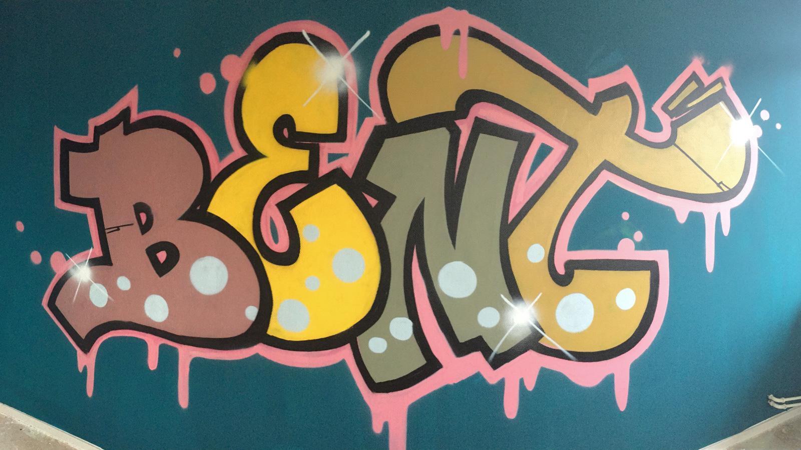 Graffiti Slaapkamers - IJgenweis Visuele Vormgeving
