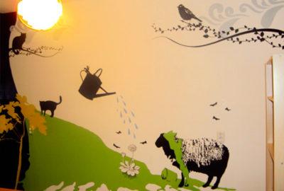 Wanddecoratie beschildering
